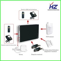 SMS and voice reminding GSM alarm system HZ-G1 Support Iphone/ Android Application