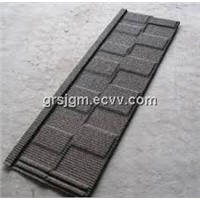 Shingle stone coated roofing tiles