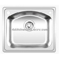 Single bowl stainless kitchen sink