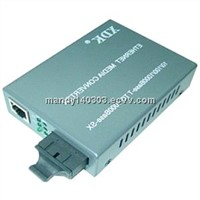 Single mode &Single core fiber 10/100Mbps media converter