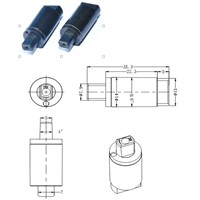 Small Diameter Hydraulic Damper for Computer Brackets
