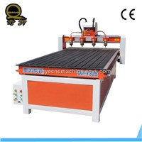 Super quality automatic 3d wood carving cnc router With 4 spindles QL-1325