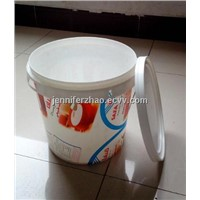 Supplier for  10 L Yogurt  Plastic Bucket with IML New