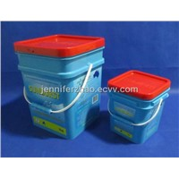 Supplier for  Plastic Pail 18 KG  Washpowder Bucket with Printing Square Pail  New Sale