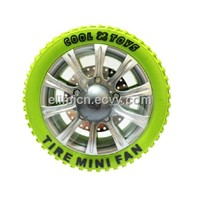 Tire mini fan computer peripheral USB charge portable fan