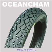 Tubeless Motorcycle Tire 110/90-16 8pr