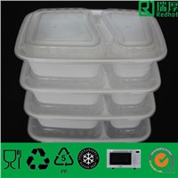 Two Compartments Plastic PP Food Container for food storage