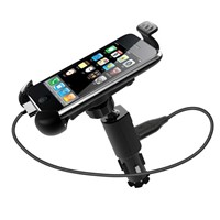 USB car charger mobile phone mount
