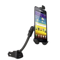 USB car smart phone charger holder with gooseneck for samsung