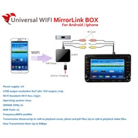 Universal Wi-Fi(wireless) Mirror-Link box(support Iphone & Android phone)