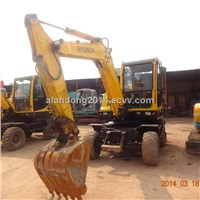 Used Hyundai R60W-7 Wheel Excavator for Construction Use