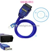 VAG OBD USB KKL COM 409.1 Interface VAG 409.1 Support dual K-lines VAG 409.1OBD2 USB Cable