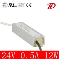 Waterproof 12W 5V/12V/24V LED Power Supply LED Driver (LPV-12W)