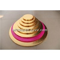 Wholesale Golden Round with Embossed Foil Cake Boards