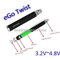 Wholesales Battery Mod Variable Voltage EGO C Twist Battery