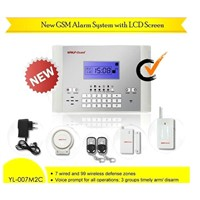 Wireless GSM SMS Alert Home Anti Intruder Security Alarm System with Door Sensor and PIR Detectors