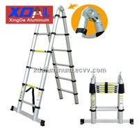 XD-AJ-320 Aluminium telescopic folding ladder with solid connection design