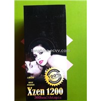 XZEN1200 enhancement supplement  white capsule