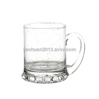 beer glass with bubble decoration