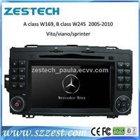 car dvd player with GPS Navigation for A class W169 B class W245  2005-2010 Vito viano sprinter