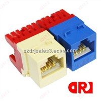 china supplier fiber optic keystone jack with different colors