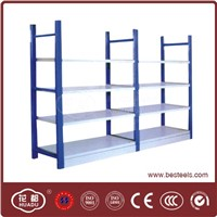 heavy duty metal goods store shelf