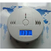 home security Electrochemical sensor LCD display carbon monoxide monitor