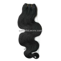 human hair weft remy hair extension body wave style