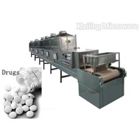 microwave drying and sterilizing machine for crude drugs (pills and tables)