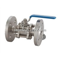 three piece flanged ball valve
