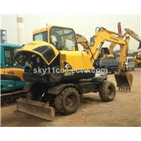used hyundai wheel excavator 60-7/mini excavator