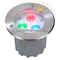 waterproof IP67 3W RGB LED Underground Light