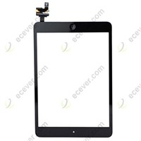 Touch Screen Digitizer Assembly With IC Chip Home Button Flex Black For iPad  Mini