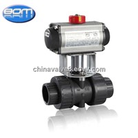2 Inch Plastic PVC Ball Valve with Pneumatic Actuator