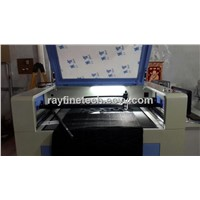 CCD laser cutting machine for cutting Label/Logo -camera system and automatic positioning system