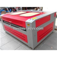 Laser engraving cutting machine with auto roll feeding system for fabric (HQ1610)