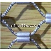 Rope Woven Mesh,stainless steel cable mesh SS 304 316 316L