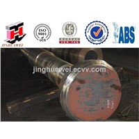 Steel Double Flange Shaft Hot Forged