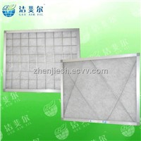 Synthetic fiber media replaceable panel air filter