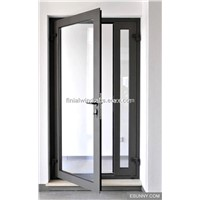 68mm Thermal break casement glass doors with CE certificate