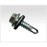 0205 Hex washer head self drilling screw with wing and bond washer