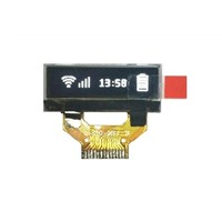 0.88-inch OLED display module with 128*32 dot matrix and white color