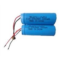 3.2V 18500 LiFePO4 Battery Pack 1000mAh With PCM