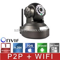 1.0Megapixel Wireless Wifi IP Network Camera /Household IP Camera Pan/Tilt