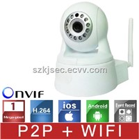 1.0Megapixel Wireless Wifi IP Network Camera /Household IP Camera with Pan/Tilt Function