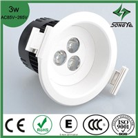 2013 New style Integration Hight Power 3W Unadjustable Concave lens LED Ceiling light SY-TT-03W