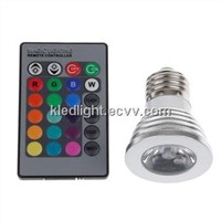 2014 3W RGB Spotlight LED with Remote Controller