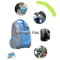 2014 Lovego Newest 1-5LPM adjustable portable oxygen concentrator for home/care/travel use