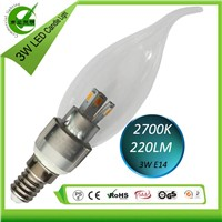 2014 super bright new product 3W E12/E14/E17/B15 led candle light