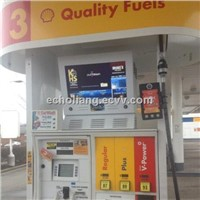 21.5 inch double sides advertising display ,gas station equipment, petrol pump lcd ,full viewing